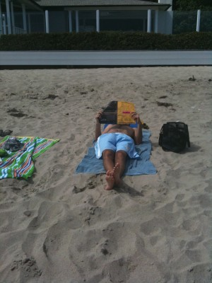 Reading on Carbon Beach