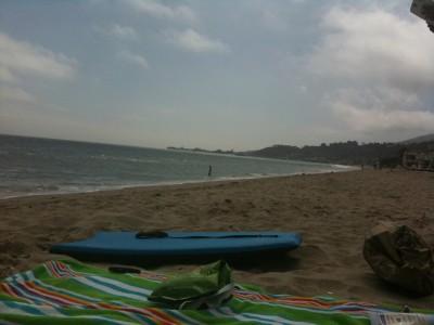 The view down Carbon Beach