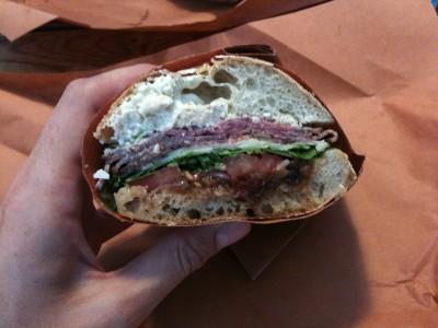 Bierkraft homemade roast beef sandwich