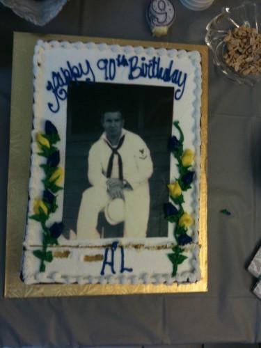 The 90th birthday cake