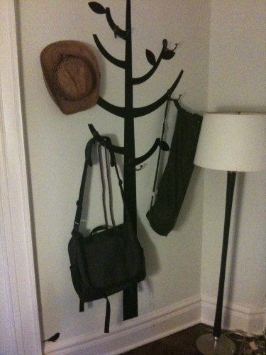 space-saving coatrack