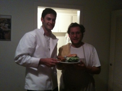 master co-chefs, me and scott