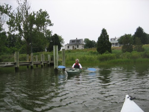 Ms. Bordow adventuring in her sturdy ship