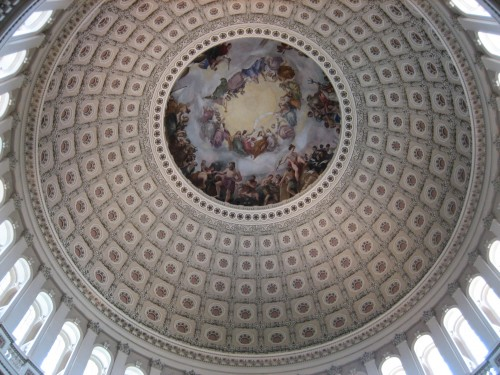 The dome between the houses of Congress