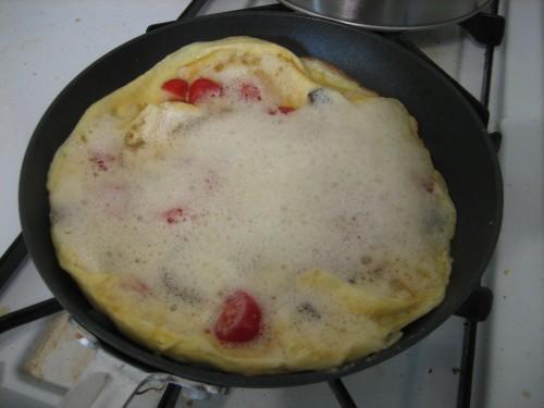 fluffy omelette preparation