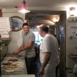 making pizza at le tre sorelle