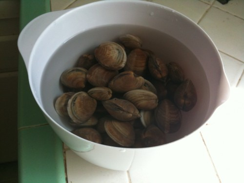 soak the clams first