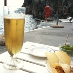beer by the sea in Amalfi