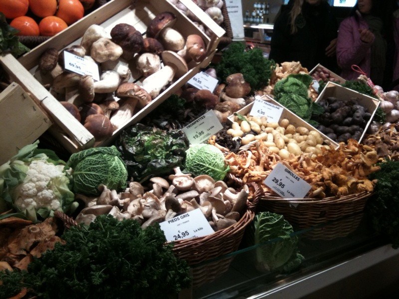 the mushrooms at le bon marche