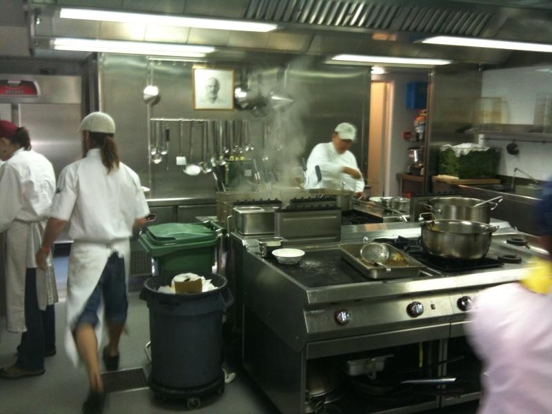 half the kitchen