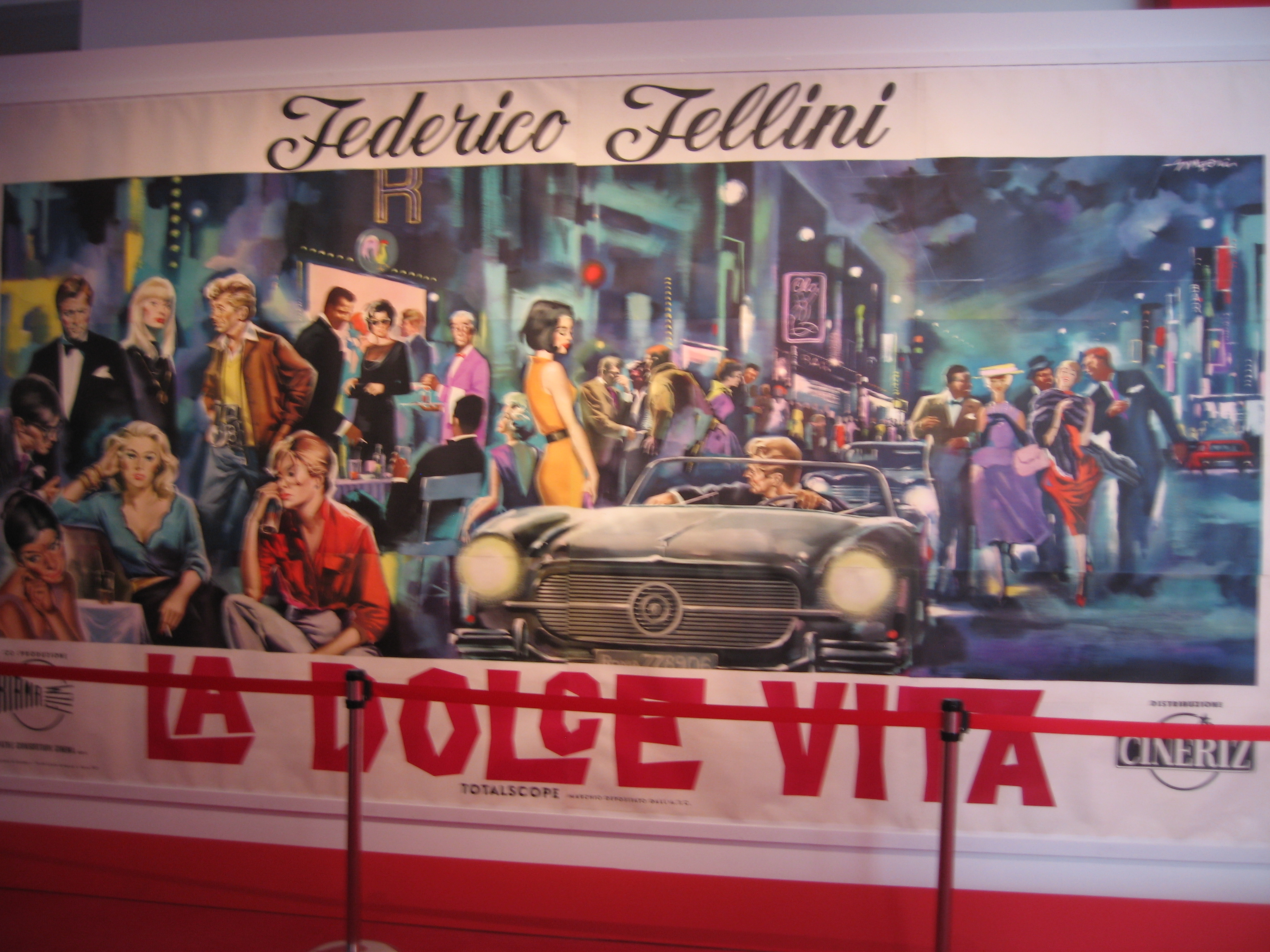 La Dolce Vita at the Fellini Exhibit