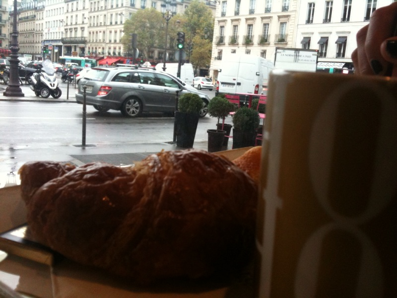 a croissant and coffee at Fauchon