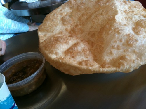 Cholle Bhature - the big puffy thing